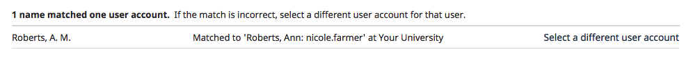 Name matched one user account