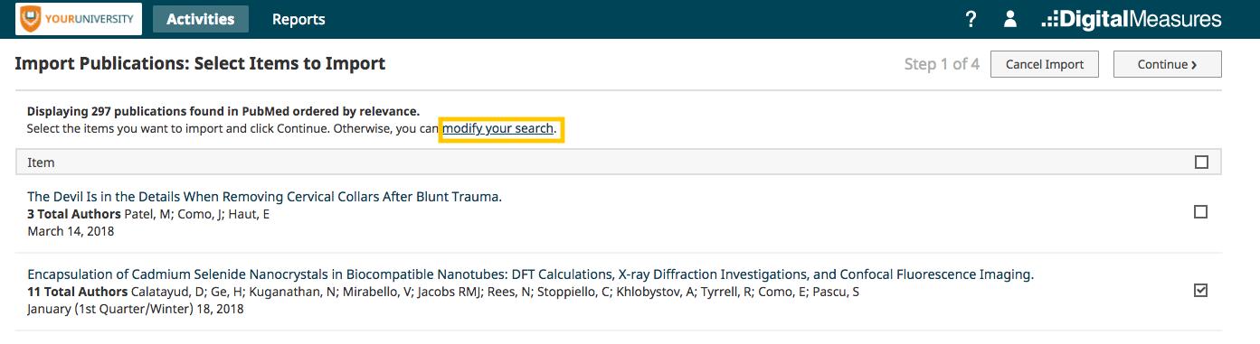 Modify search pop-up